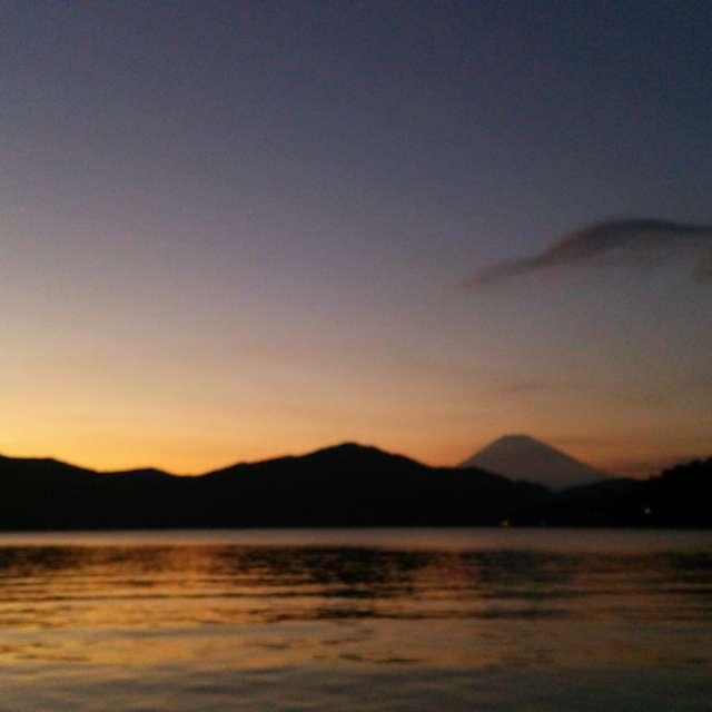 マジックタイム芦ノ湖と富士