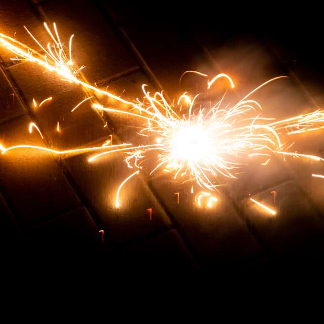 Silvester fireworks explosion