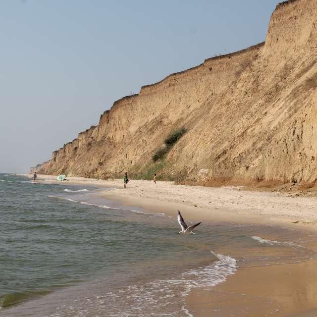 пляж большой обрыв из глины