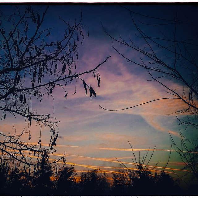Sunset over Tavankut