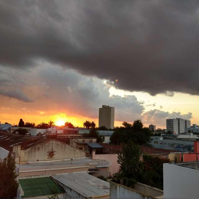 Atardecer de tormenta
