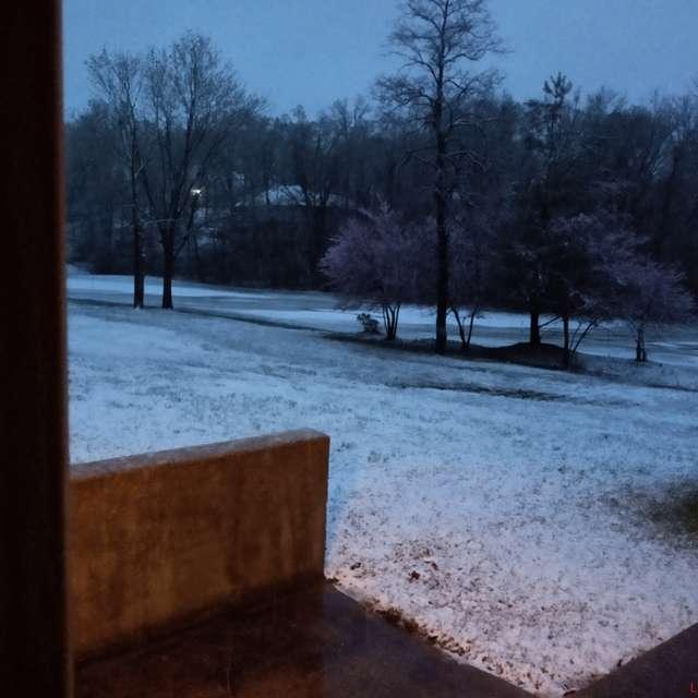 Snow on 4/14/19