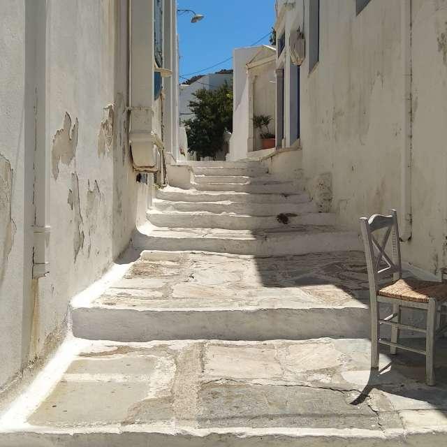 Narrow village street, Tinos