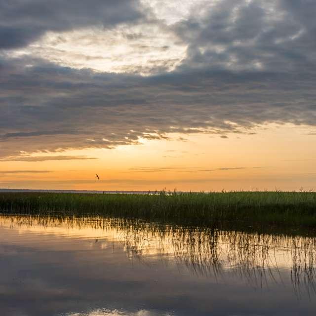 Sunset Lake in Latvia