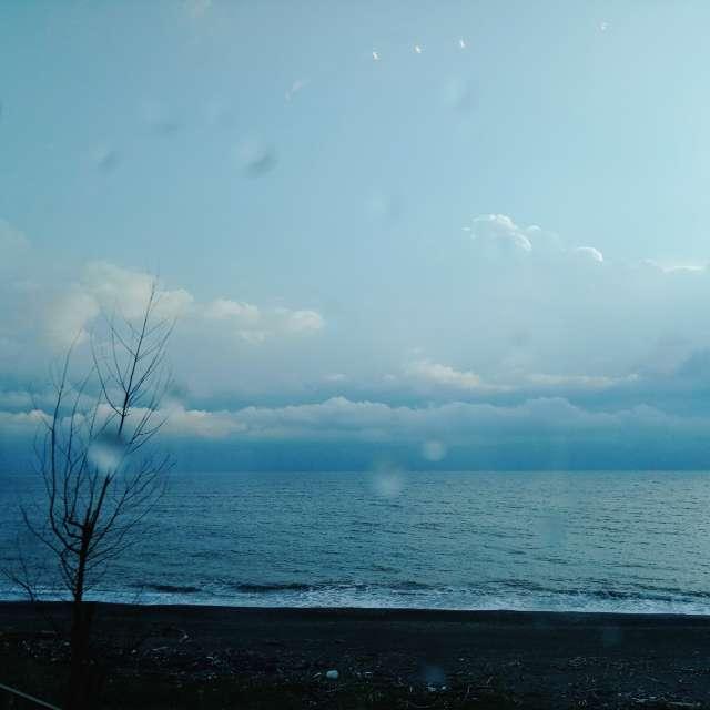 雨天的海邊