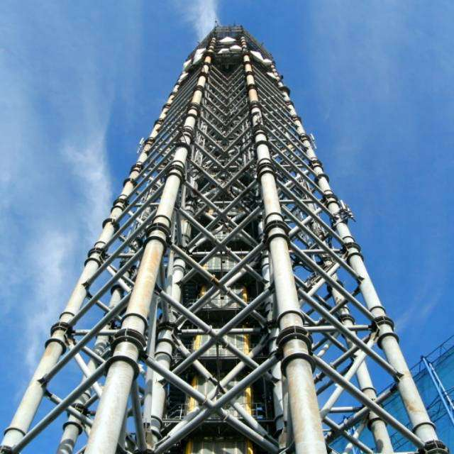 スカイタワー西東京(地上高195m)を見上げて撮影