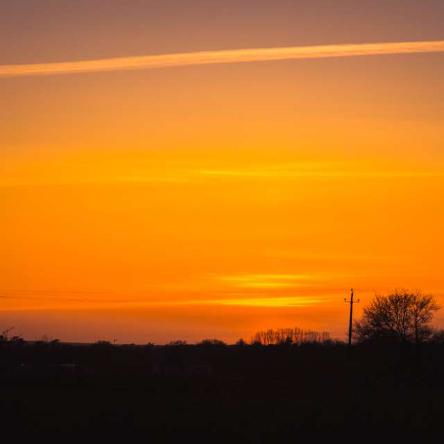 Sunset on the county