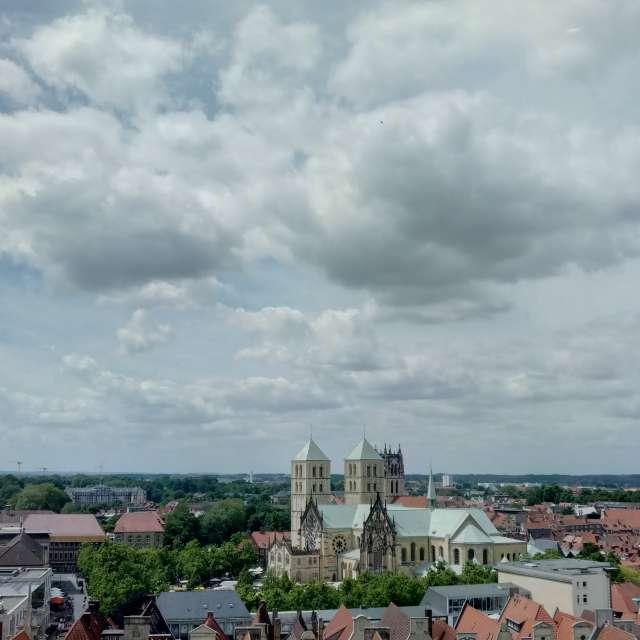 Münster from above (Café 1648)