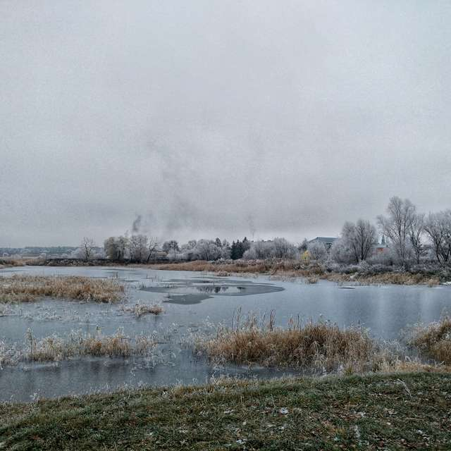 Frost and lake