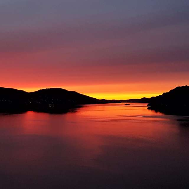Sunset from Osterøy Norway.