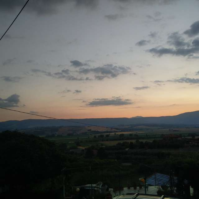 Sunset at Monteleone d'Orvieto