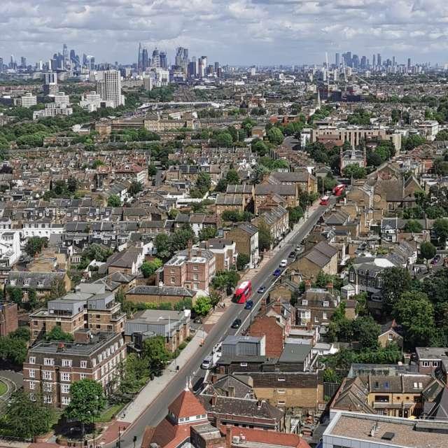 London skyline from Wandsworth