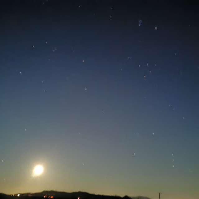 Moonlit Spanish Sky