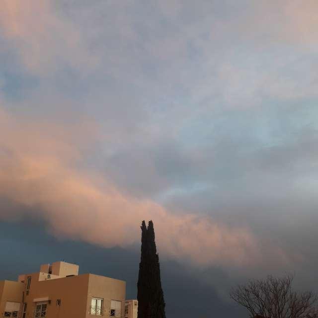 Clima nubes tormenta pino