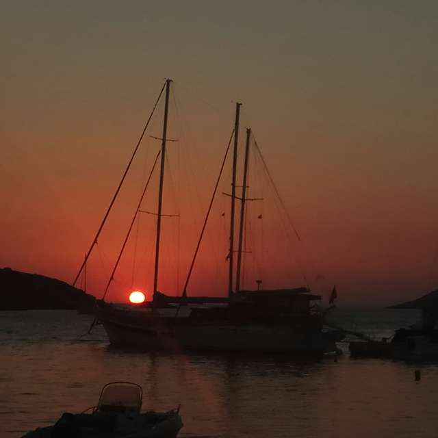 Sunset in Merihas Kythnos