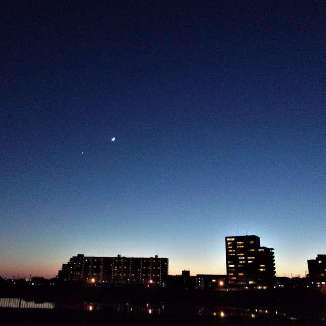 月と星 Moon and star