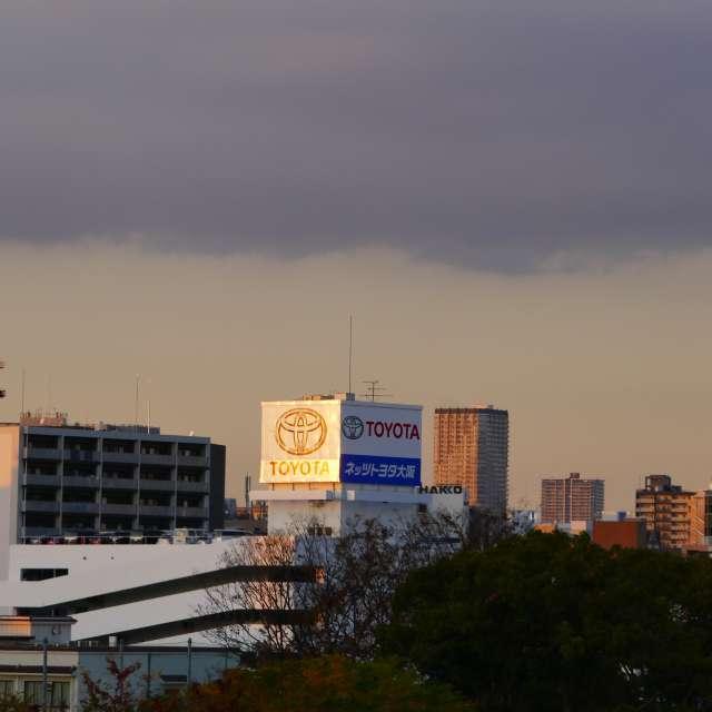 JR今宮駅からの夕暮れ