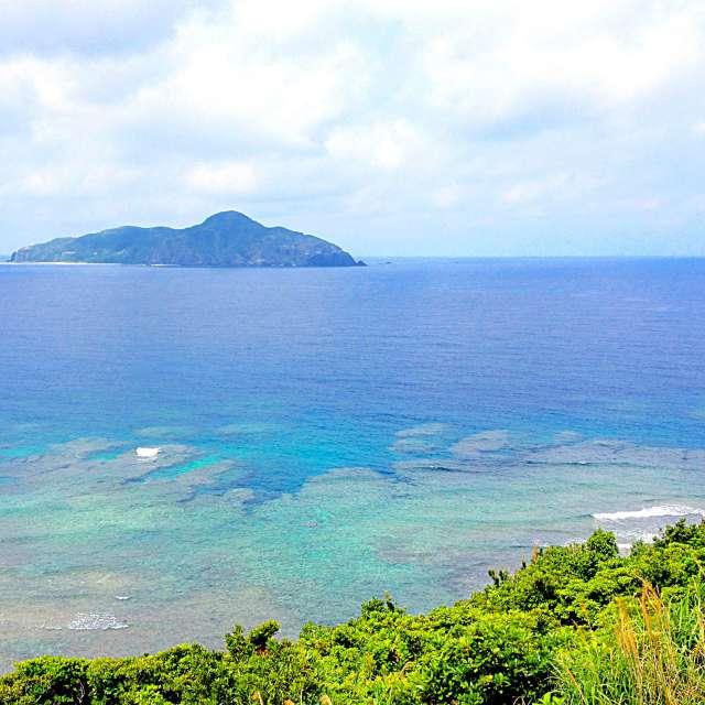 美しい青い海、美ら海です!