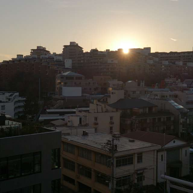 西麻布の夕日