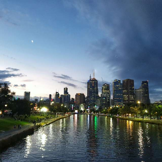 Melbourne autumn evening
