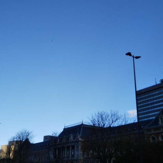 官庁街の晴天