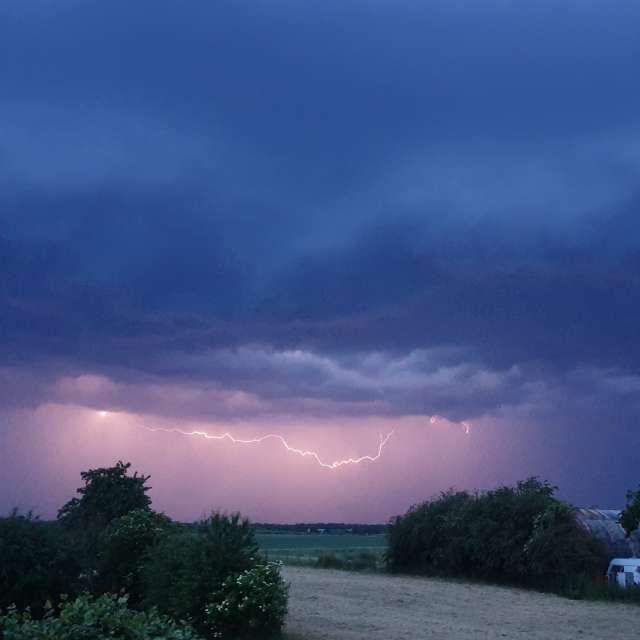 Beautiful summer lightning