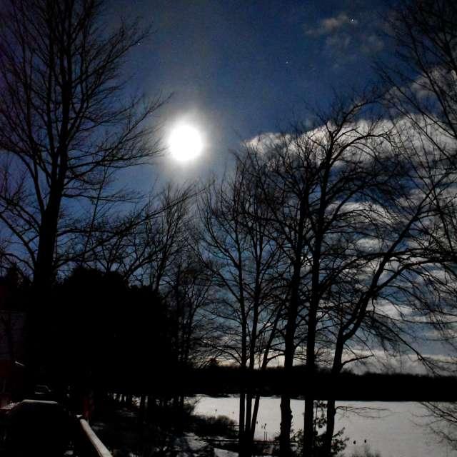 Full moon in December at 4am