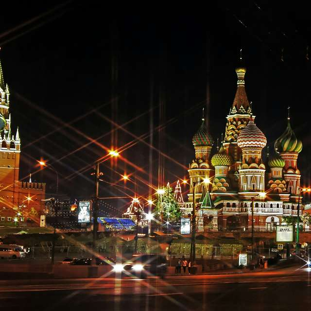 Moscow. Red Square. Night.