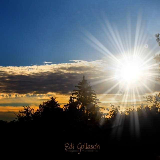 Strahlender Sonnenaufgang