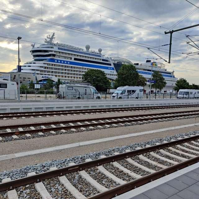 Bahnhof in Rostock-Warnemünde