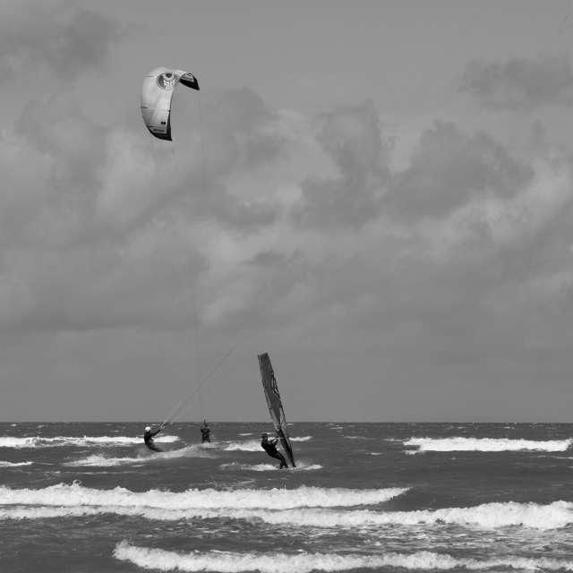 Kiten auf der Nordsee