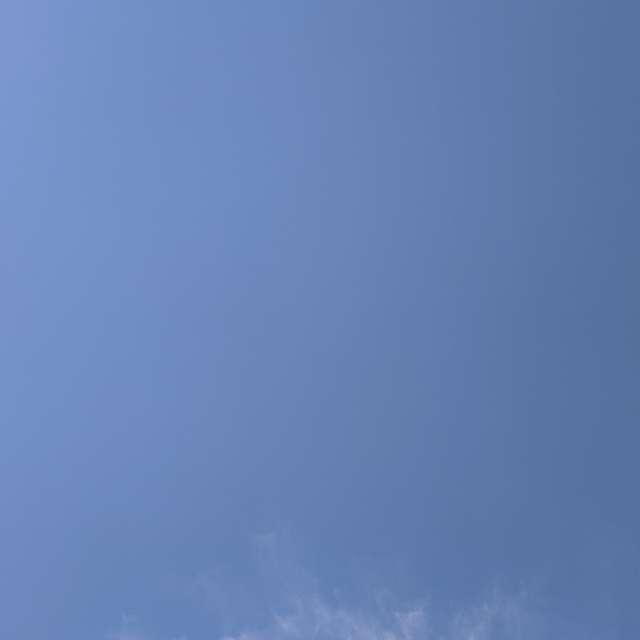 Blue sky in Russia