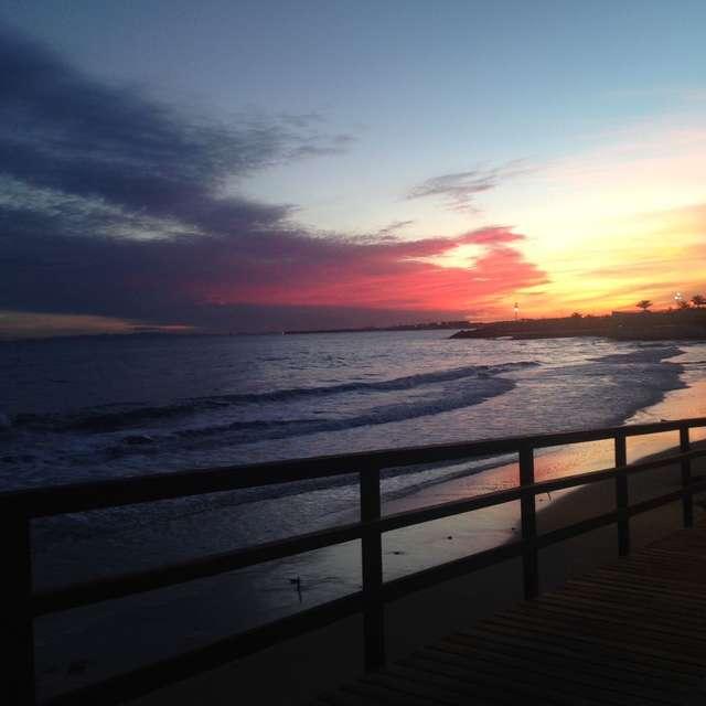 Море вечер пляж