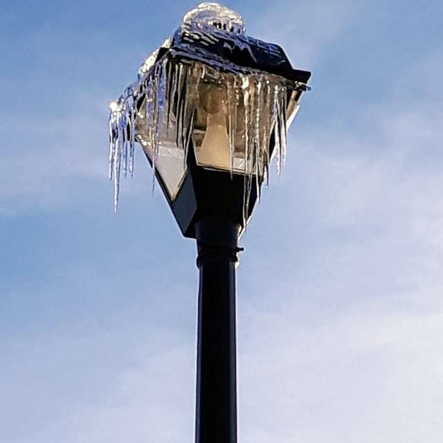 Frozen Lamp Post