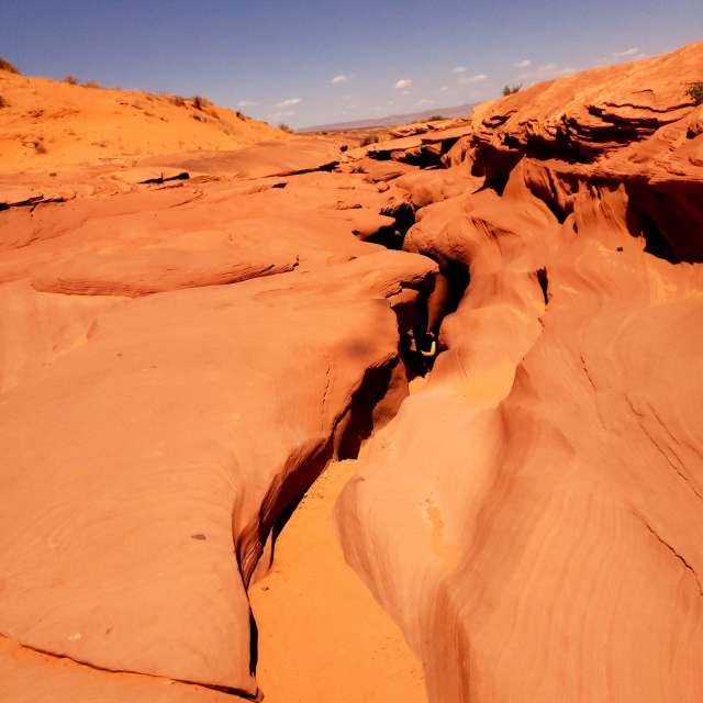 Slot canyons in Page, AZ