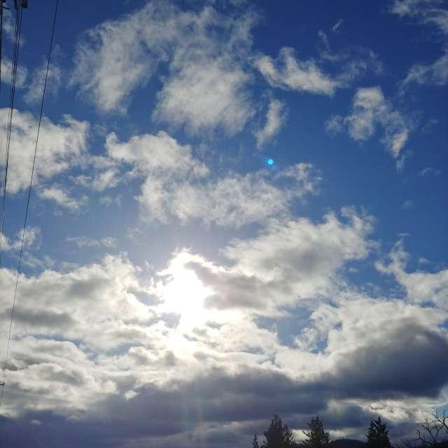 お日さまが雲に隠れる間際のショット!