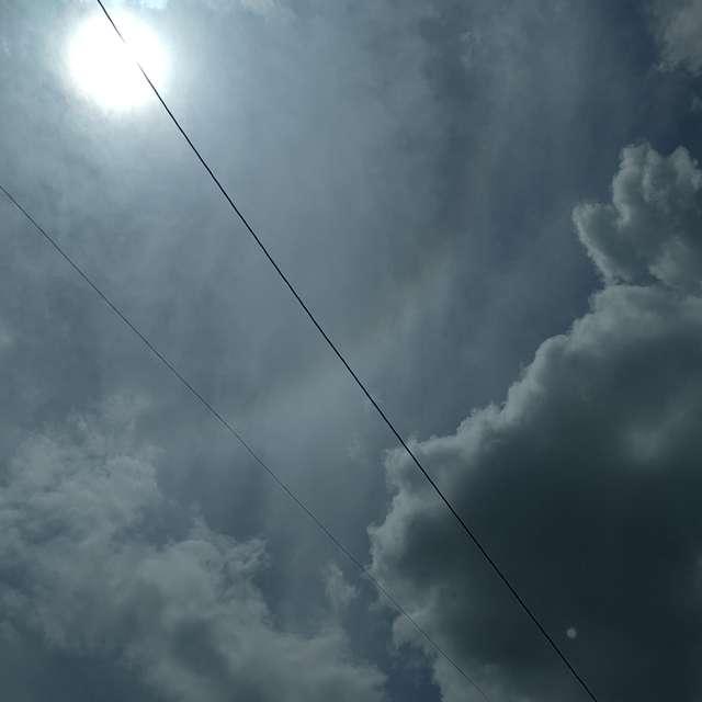 曇と太陽が順番に主役取りしてた日です