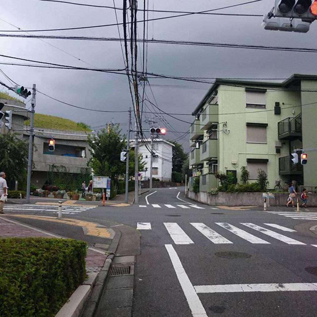 雨がくるー