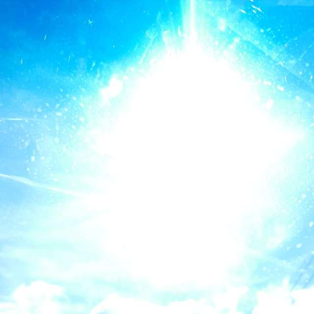 日中藍天光芒
