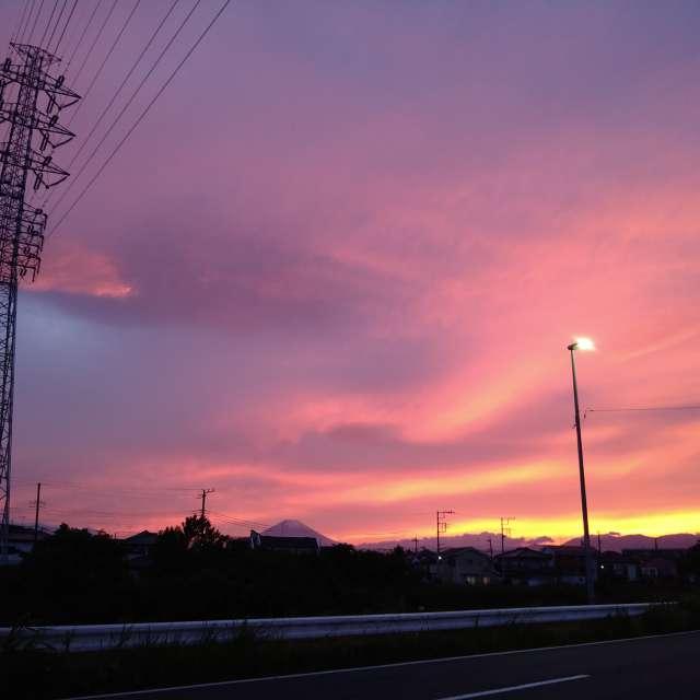 小さいけど富士山も写ってます