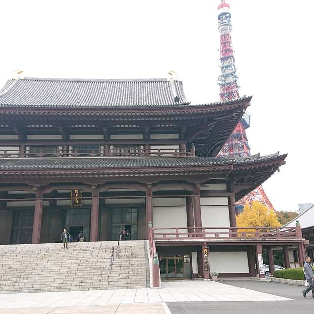 増上寺にて