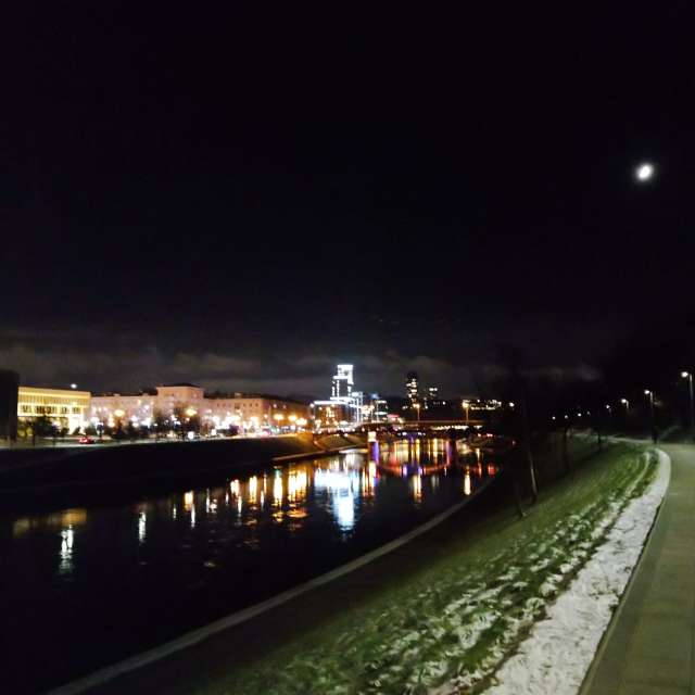 Promenade by the river