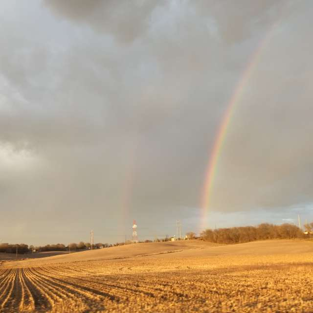 Countryside Double rainbow