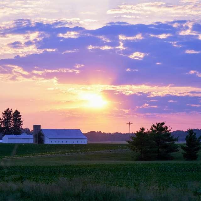 Sunset Indiana Farm Land