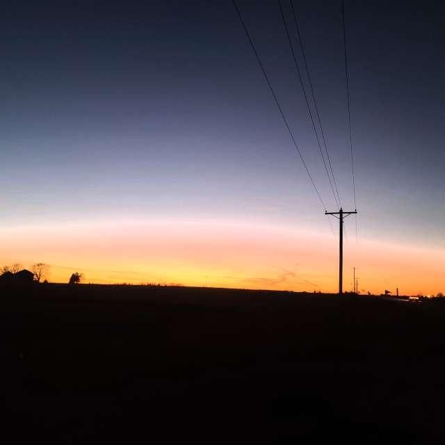SE Iowa sunset sky halo