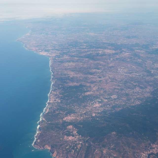vista sobre a costa portuguesa
