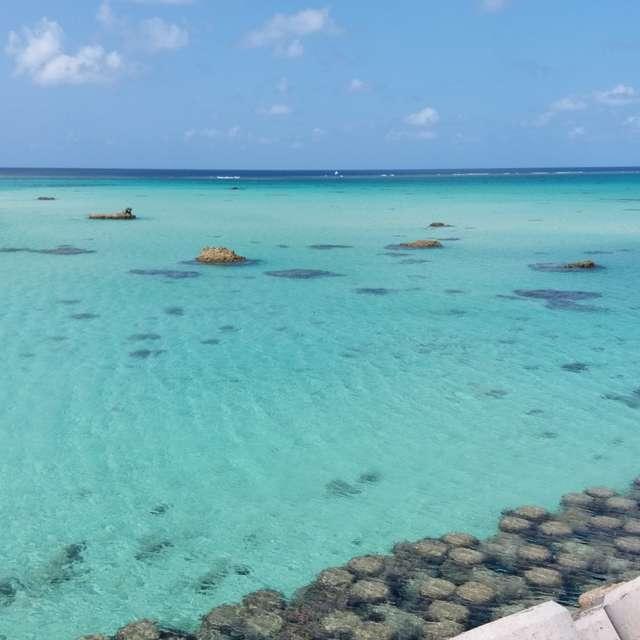 宮古島のきれいな海