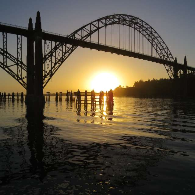 Sunset Newport Oregon
