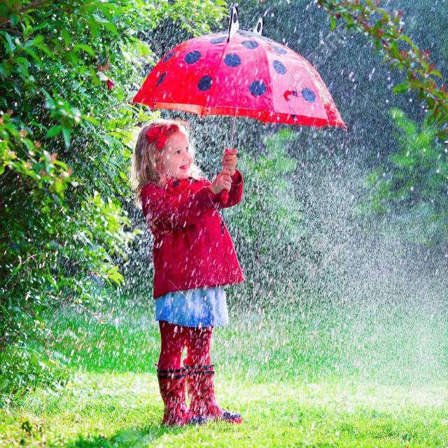 とてもきれいな雨