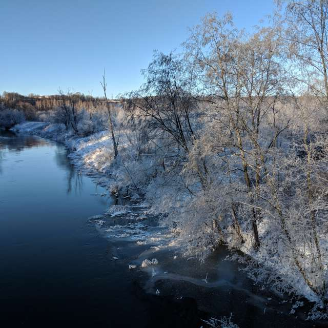 Река Истра зимой